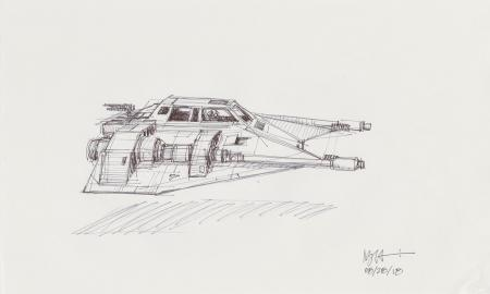 Lot # 44: Rebel Snowspeeder Profile Sketch