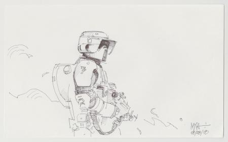 Lot # 46: Scout Trooper Sketch