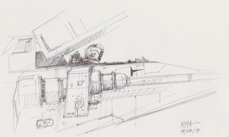 Lot # 47: Rebel Snowspeeder Taking Off Sketch