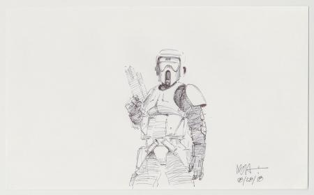 Lot # 54: Scout Trooper Sketch