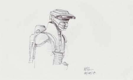 Lot # 72: Loose Boushh Sketch - with backpack