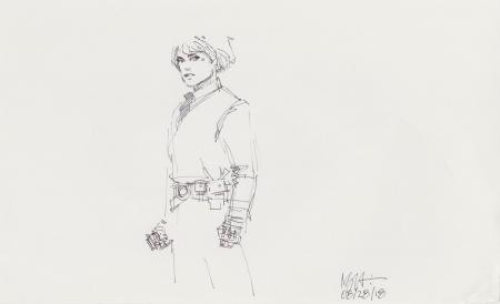 Lot # 78: Luke Skywalker Costume Sketch