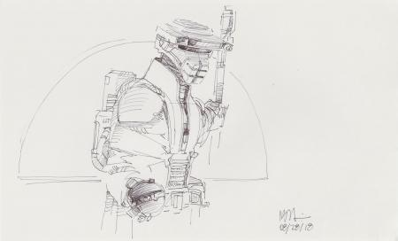 Lot # 86: Boushh Sketch - with Thermal Detonator in Doorway