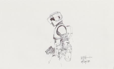 Lot # 94: Scout Trooper Sketch - Profile