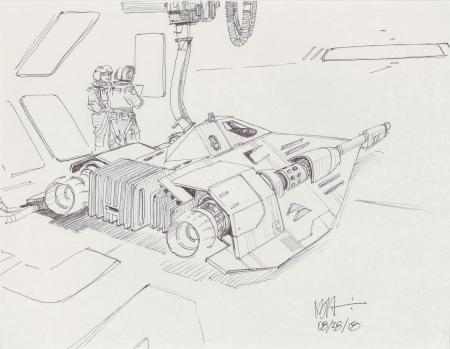 Lot # 96: Rebel Snowspeeder Sketch - Refueling