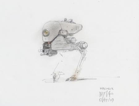 Lot # 101: Alternate Chicken Walker Colored Design Sketch