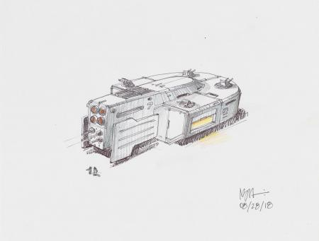 Lot # 111: Large-scale Hoth Tank Colored Design Sketch