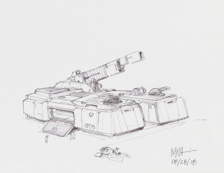 Lot # 115: Hoth Tank and Smaller Vehicle Design Sketches