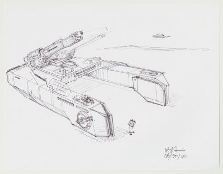 Lot # 140: Hoth Tank Design Sketch