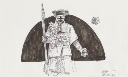 Lot # 145: Boushh Sketch - in Doorway