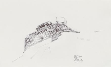 Lot # 149: Rebel Snowspeeder Sketch - Rear View
