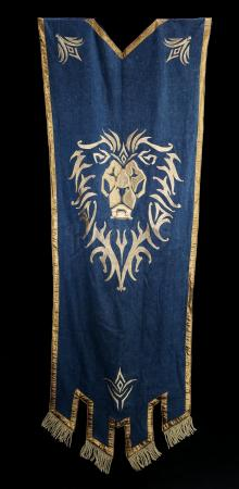 Lot # 71: Large Lion Head Alliance Banner