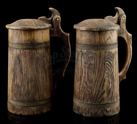 Lot # 73: Two Tall Beer Mugs