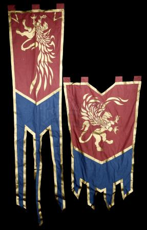 Lot # 83: Two Alliance Gryphon Banners