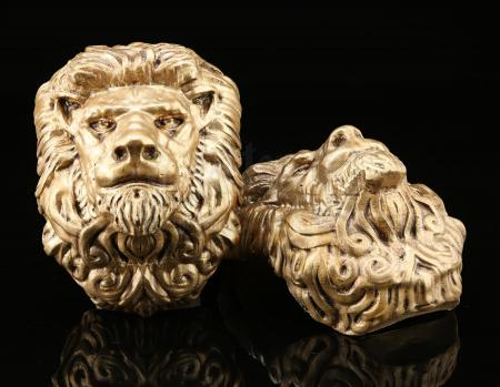 Lot # 88: King Llane Wrynn's (Dominic Cooper) Chandelier Lion Adornments