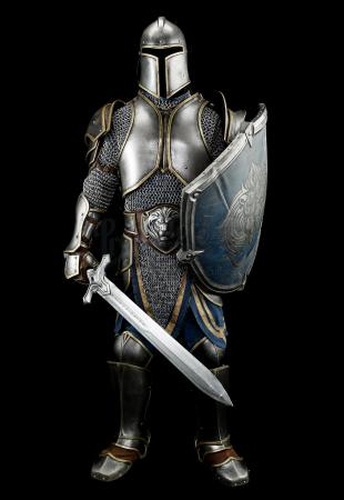 Lot # 95: Alliance Foot Soldier Armor With Sword and Shield