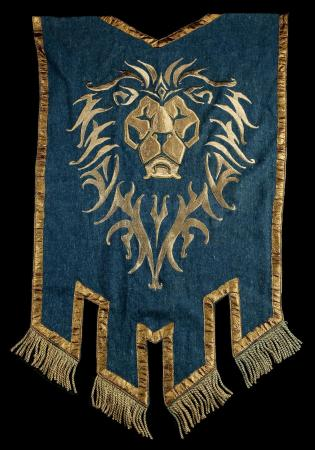 Lot # 121: Medium Lion Head Alliance Banner