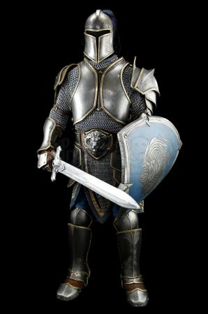 Lot # 123: Alliance Foot Soldier Armor With Sword and Shield