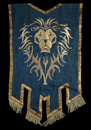 Lot # 153: Medium Lion Head Alliance Banner