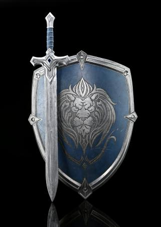 Lot # 183: Alliance Foot Soldier Sword and Shield