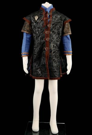 Lot # 184: Varian's Leather Jacket and Tunic Costume