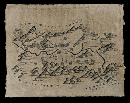 Lot # 195: Burning Steppes Map