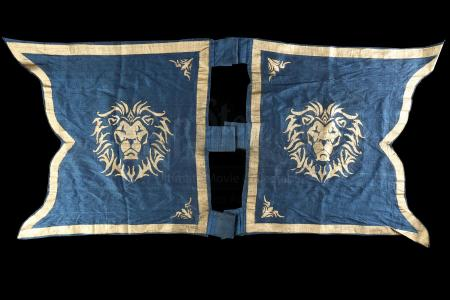 Lot # 348: Two Small Alliance Lion Banners