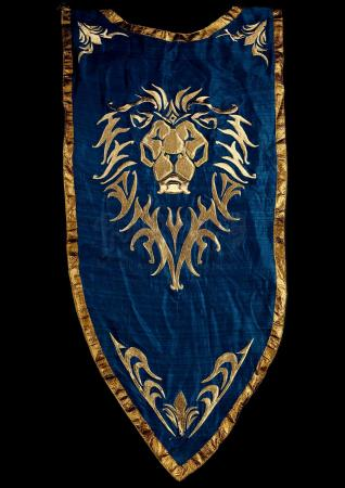 Lot # 464: Large Lion Head Alliance Banner