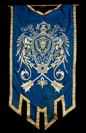 Lot # 465: Alliance Lion Banner with Metal Rod