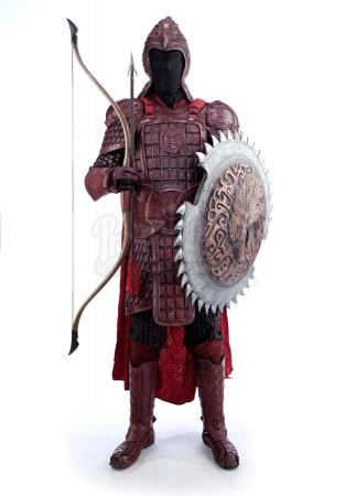 Lot # 11: Red Eagle Corps Soldier Armor with Weapons