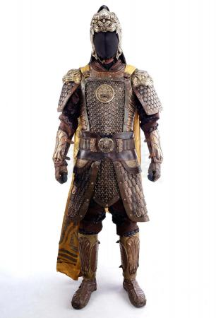 Lot # 21: Commander Wu (Eddie Peng) Gold Tiger Corp Soldier Armor with Sheathed Sword