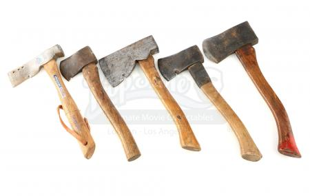 Lot # 160: JOHN WICK: CHAPTER 3 - PARABELLUM - Five Assorted Antique Warehouse Axes