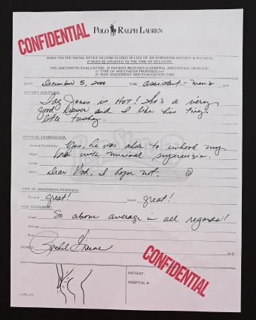 Lot # 14: FRIENDS - Rachel Green's Handwritten Employee Evaluation Form of Tag