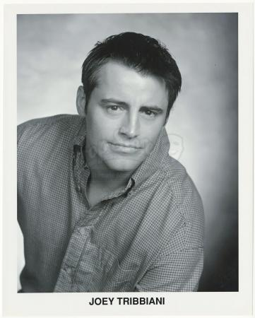 Lot # 106: FRIENDS - Joey Tribbiani's Dry Cleaners Black and White Headshot