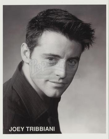 Lot # 107: FRIENDS - Joey Tribbiani's Purina One Audition Black and White Headshot and Resume