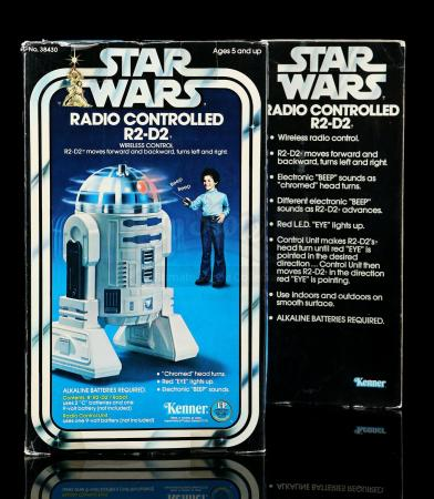 "Lot # 1: Radio-Controlled R2-D2 8"" Figure - Sealed [Kazanjian Collection]"