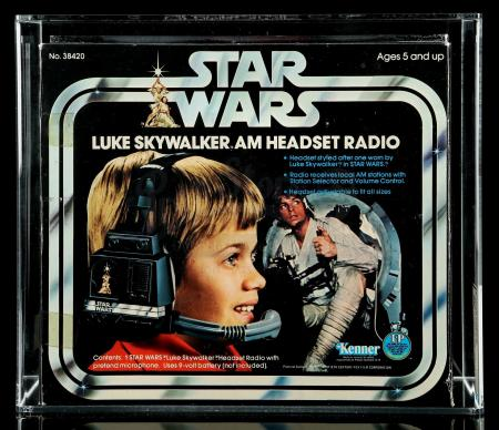 Lot # 3: Luke Skywalker AM Headset Radio AFA 80 [Kazanjian Collection]