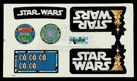 Lot # 6: Star Wars X-Wing Aces Sticker Sheet - Unused