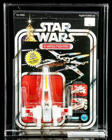 Lot # 11: Diecast X-Wing Fighter SW12B CAS 75+ [Kazanjian Collection]