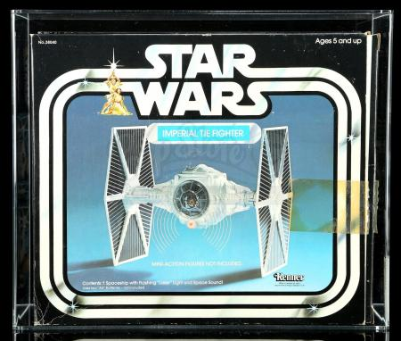 Lot # 19: Imperial TIE Fighter (With Catalog Label) AFA 80Q [Kazanjian Collection]