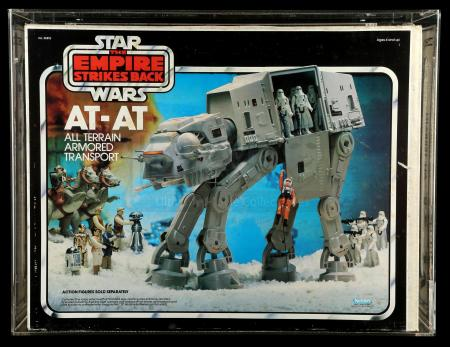 Lot # 24: AT-AT Vehicle (With Moving Label) CAS 75+ [Kazanjian Collection]