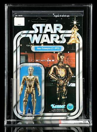 Lot # 51: Japanese C-3PO (Takara Head Variant) SW12C AFA 80+