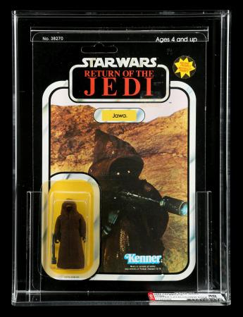 Lot # 59: Dutch Jawa (with Front and Back Sticker) ROTJ77A AFA 80Y