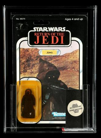 Lot # 60: Dutch Jawa (Wrap-Around Sticker) ROTJ77A AFA 80Y