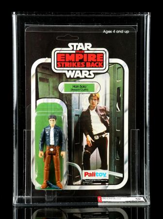 Lot # 62: UK Han Solo (Bespin Outfit) ESB41 AFA 80