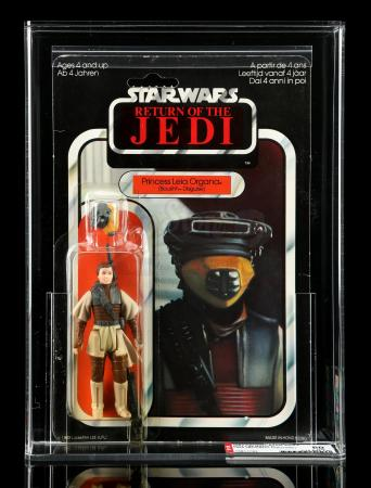 Lot # 65: UK Princess Leia Organa (Boushh Disguise) ROTJ65A AFA 80Y