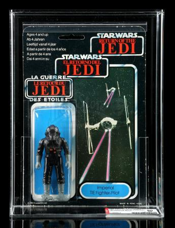 Lot # 68: UK Tri-Logo Imperial TIE Fighter Pilot ROTJ79B AFA 80