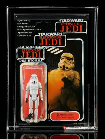 Lot # 70: UK Tri-Logo Stormtrooper ROTJ70B AFA 50