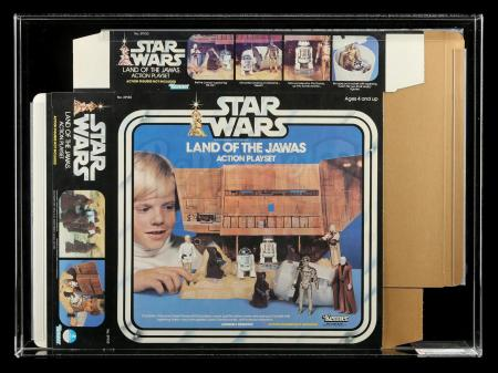 Lot # 110: Land of the Jawas Action Playset Box Flat CAS 90