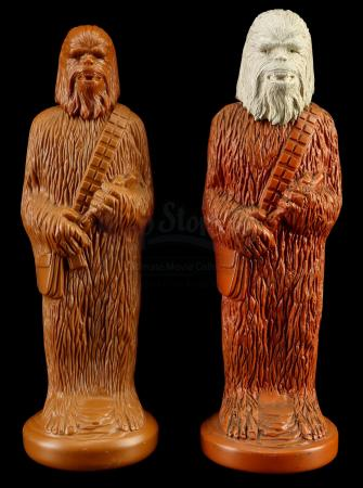 Lot # 128: Hand-Painted Chewbacca Figural Shampoo Bottle Cap Dynacast Hardcopy with Production Example